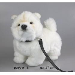 Pies chowchow ze smyczą 27cm