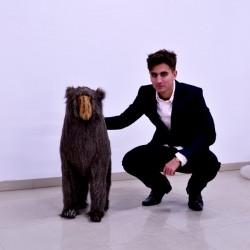 Małpa pawian stojący 86cm