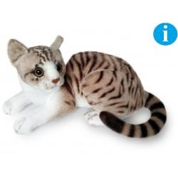 Kot biało-szary 30cm