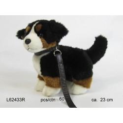 Pies berneński ze smyczą 23cm